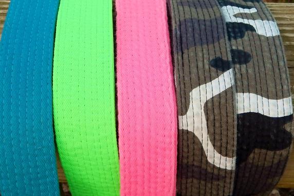 Karate Belt Leash in Hot Pink